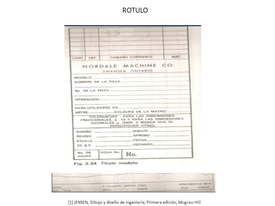 ROTULO [1] JENSEN, Dibujo y diseño de Ingeniería, Primera edición, Mcgraw Hill